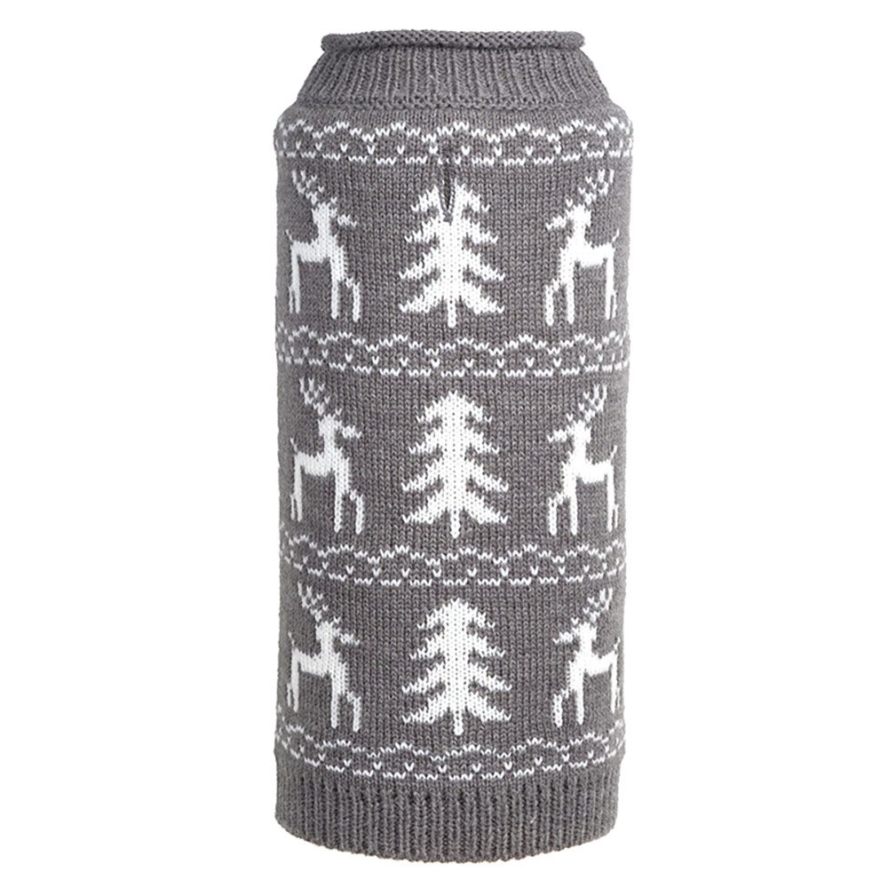 The Worthy Dog Roll Neck Sweater, Woodlands Reindeer, XX-Large