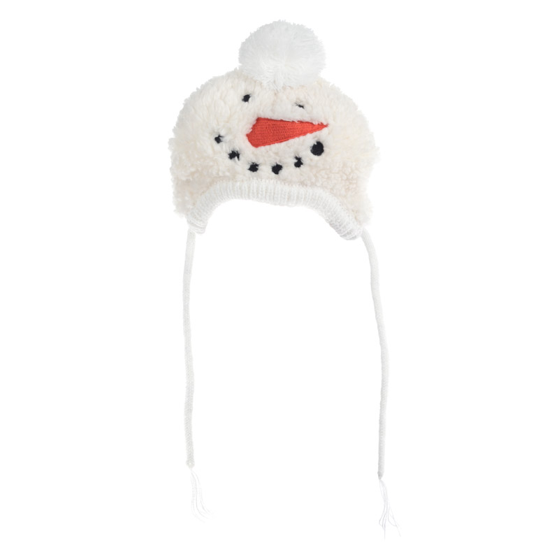 The Worthy Dog Hat, Snowman, Small