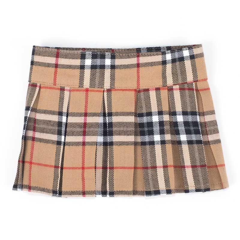 The Worthy Dog Skirt, Tan Plaid, Small/Medium