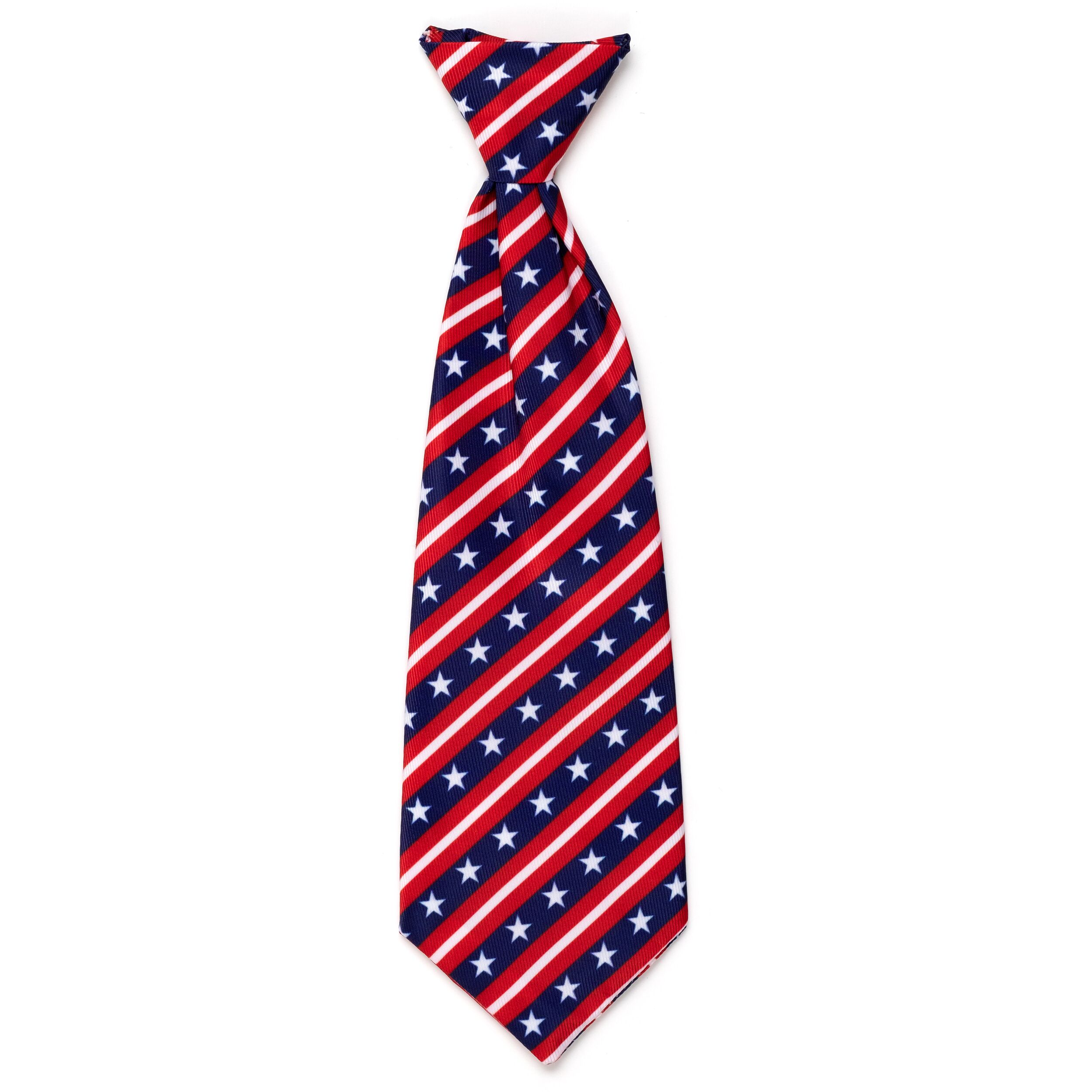 The Worthy Dog Neck Tie, Stars and Stripes, Large