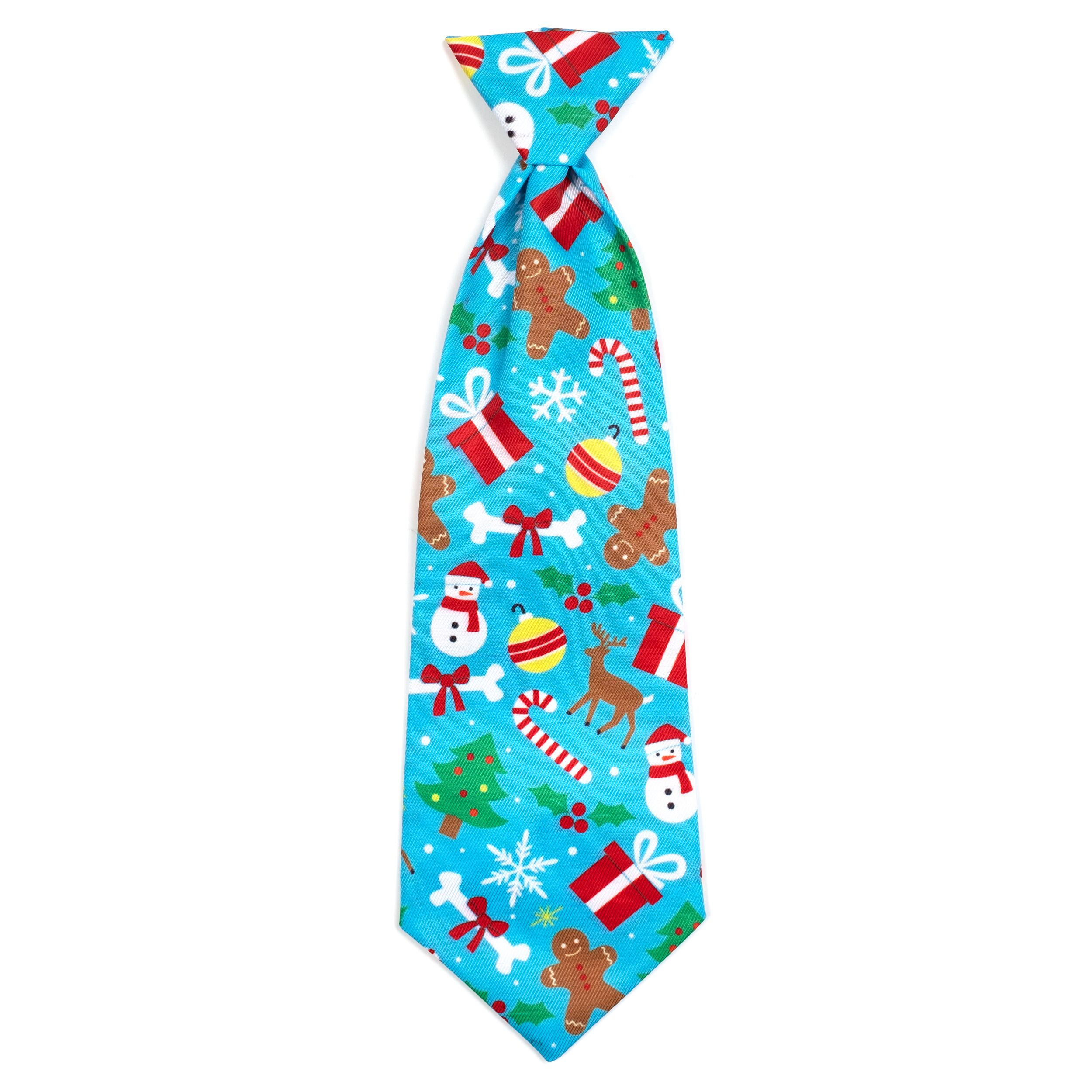 The Worthy Dog Neck Tie, Winter Wonderland, Large