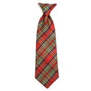 The Worthy Dog Neck Tie, Red Lurex Plaid, Large