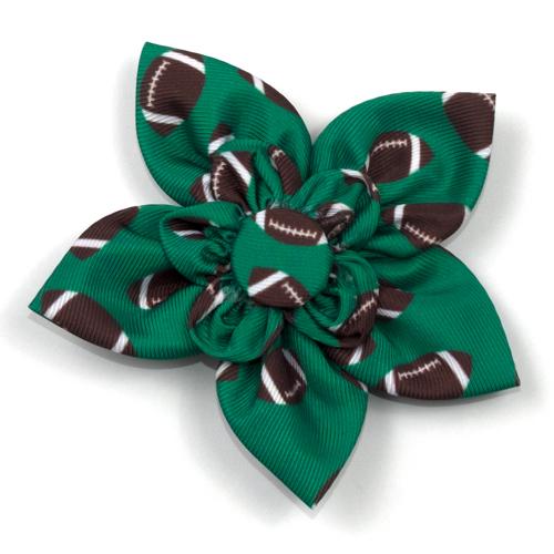 The Worthy Dog Collar Flower, Football, Large