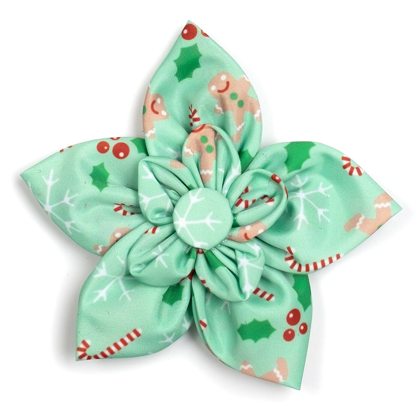 The Worthy Dog Collar Flower, Gingerbread, Large