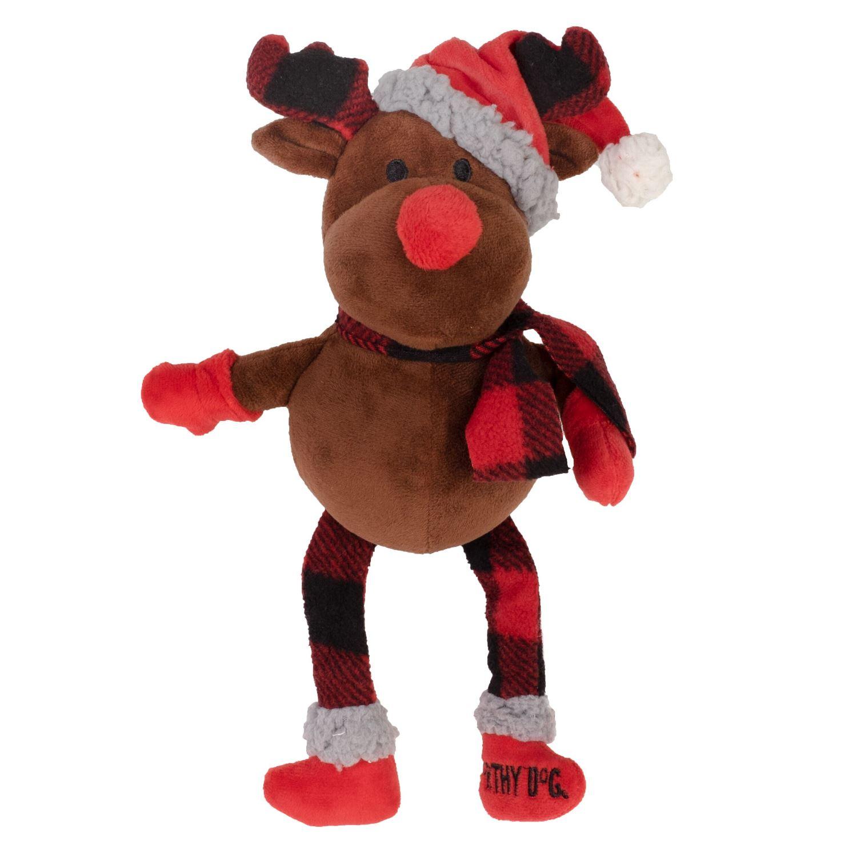 The Worthy Dog Plush Toy, Buffalo Reindeer