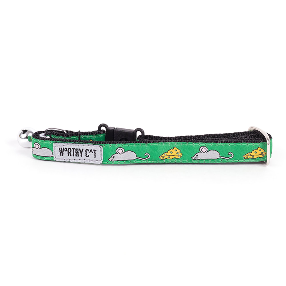 The Worthy Dog Cat Collar, Mouse and Cheese