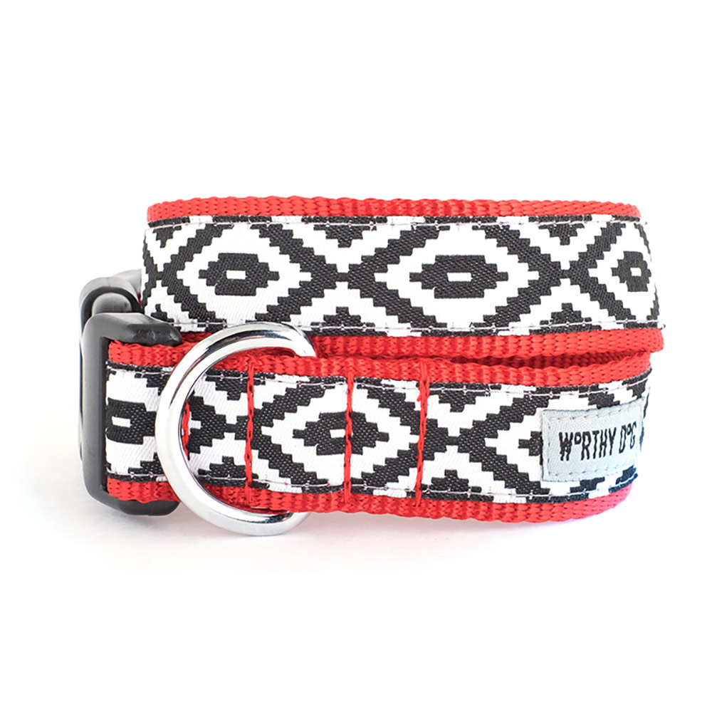 The Worthy Dog Collar, Kilim, X-Small