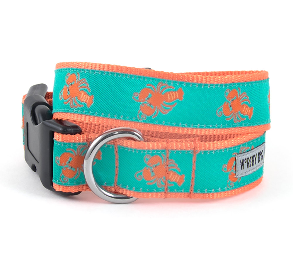 The Worthy Dog Collar, Lobsters, X-Small