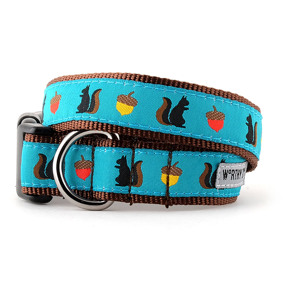The Worthy Dog Collar, Squirrelly, X-Small