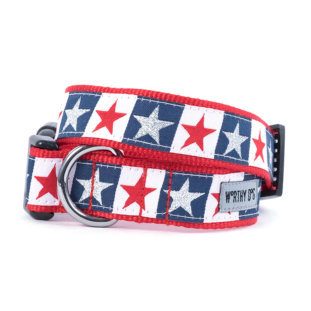 The Worthy Dog Collar, Stars and Stripes, Small