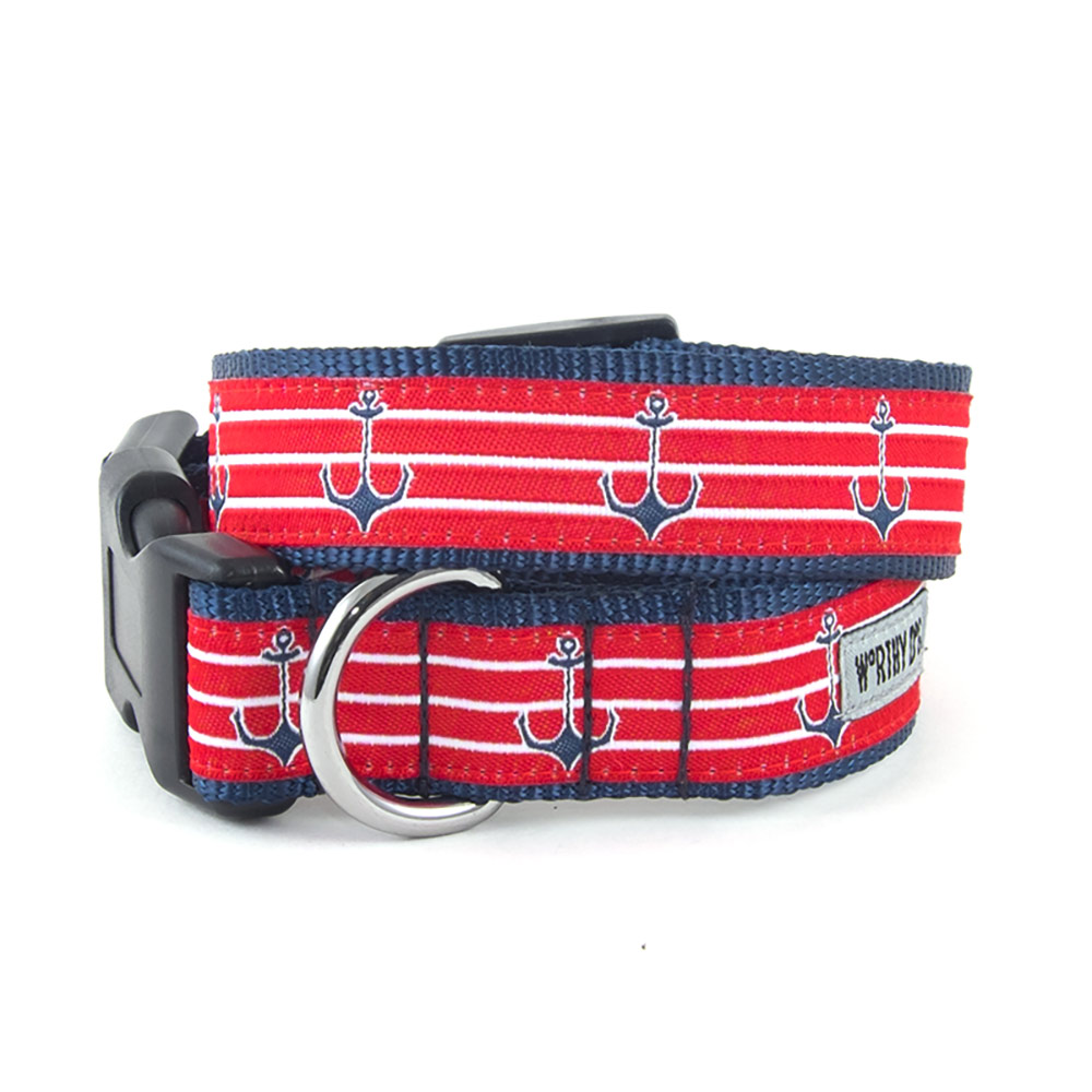 The Worthy Dog Collar, Anchors, X-Small