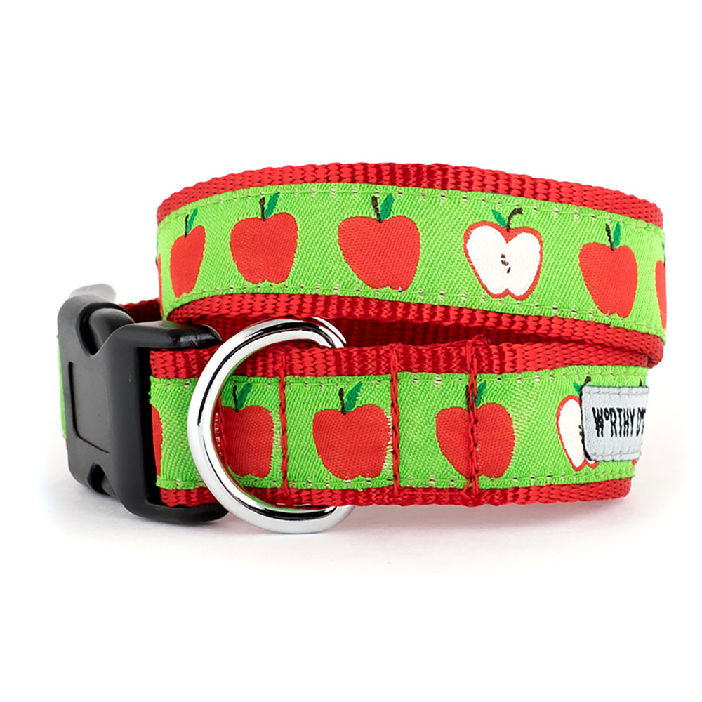 The Worthy Dog Collar, Apples, Medium