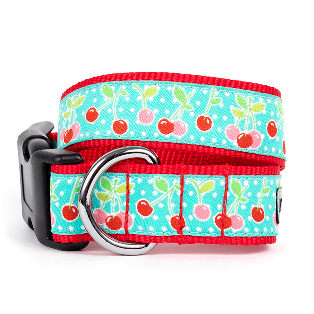 The Worthy Dog Collar, Cherries, X-Large