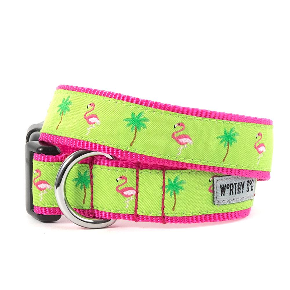 The Worthy Dog Collar, Flamingos, Small