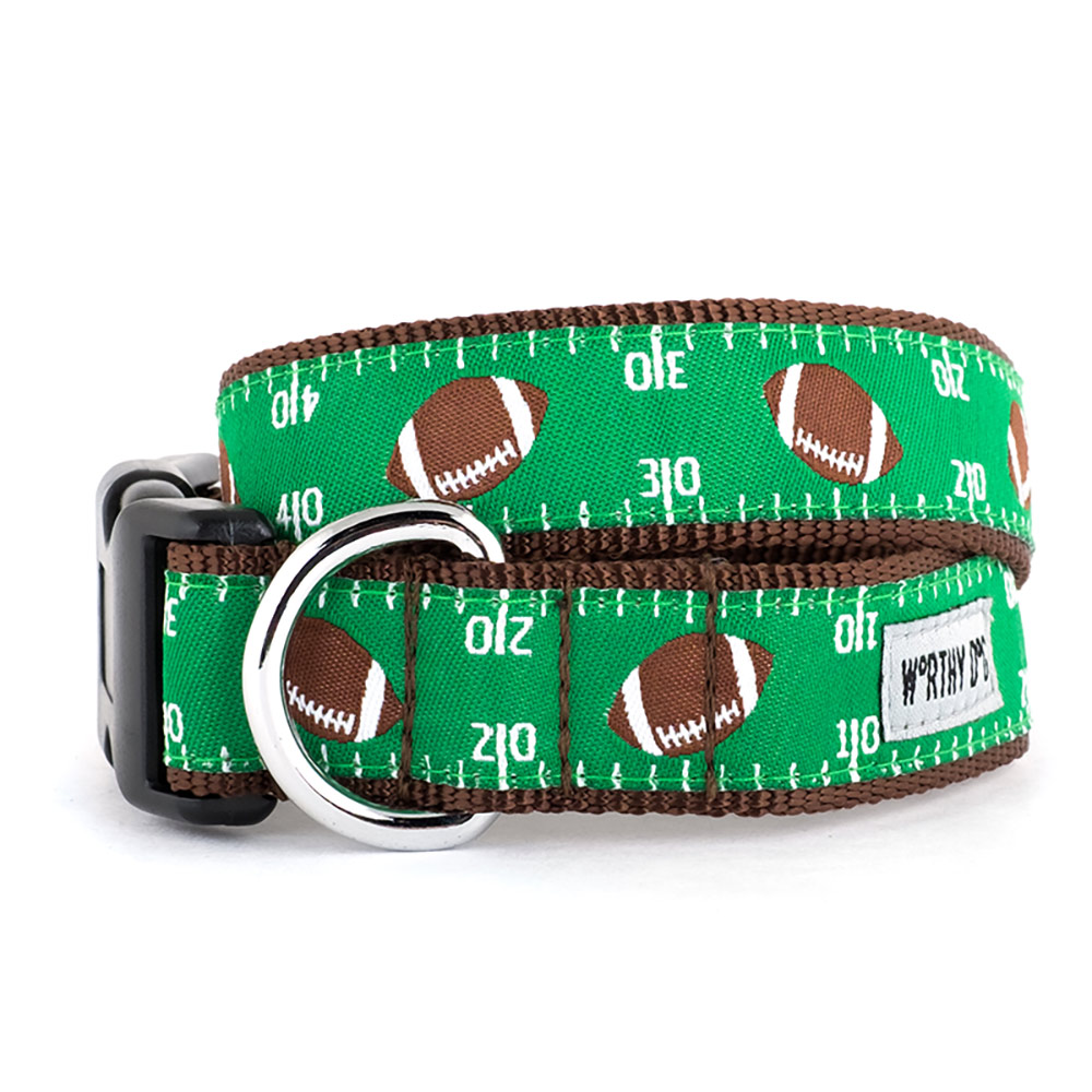 The Worthy Dog Collar, Football Field, X-Small