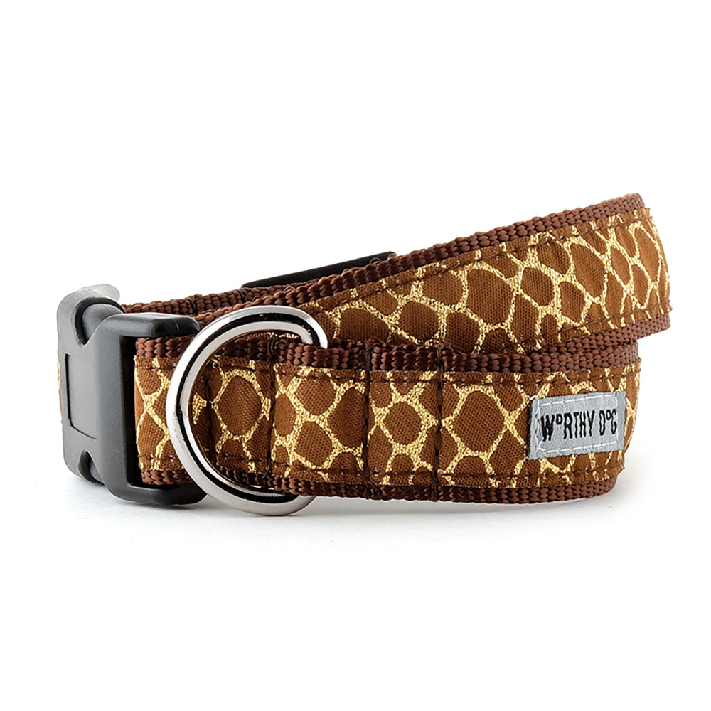 The Worthy Dog Collar, Giraffe, X-Small