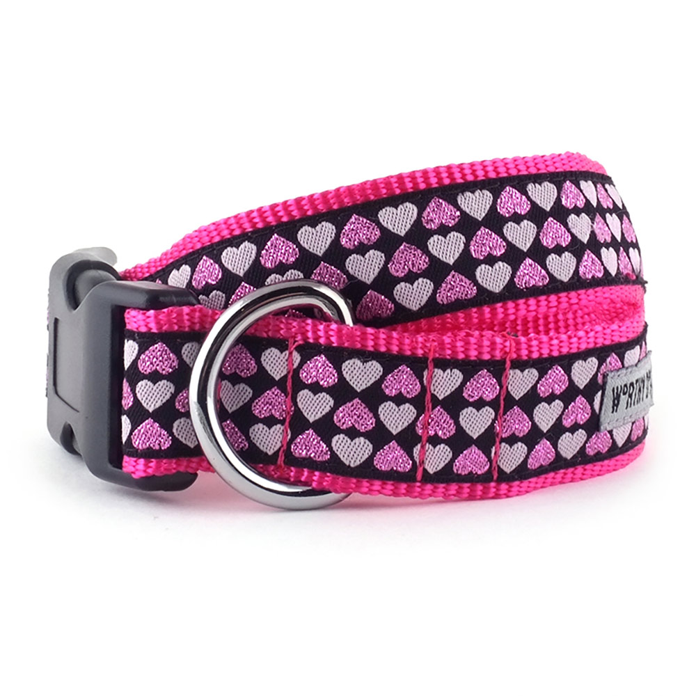 The Worthy Dog Collar, Hearts, X-Small