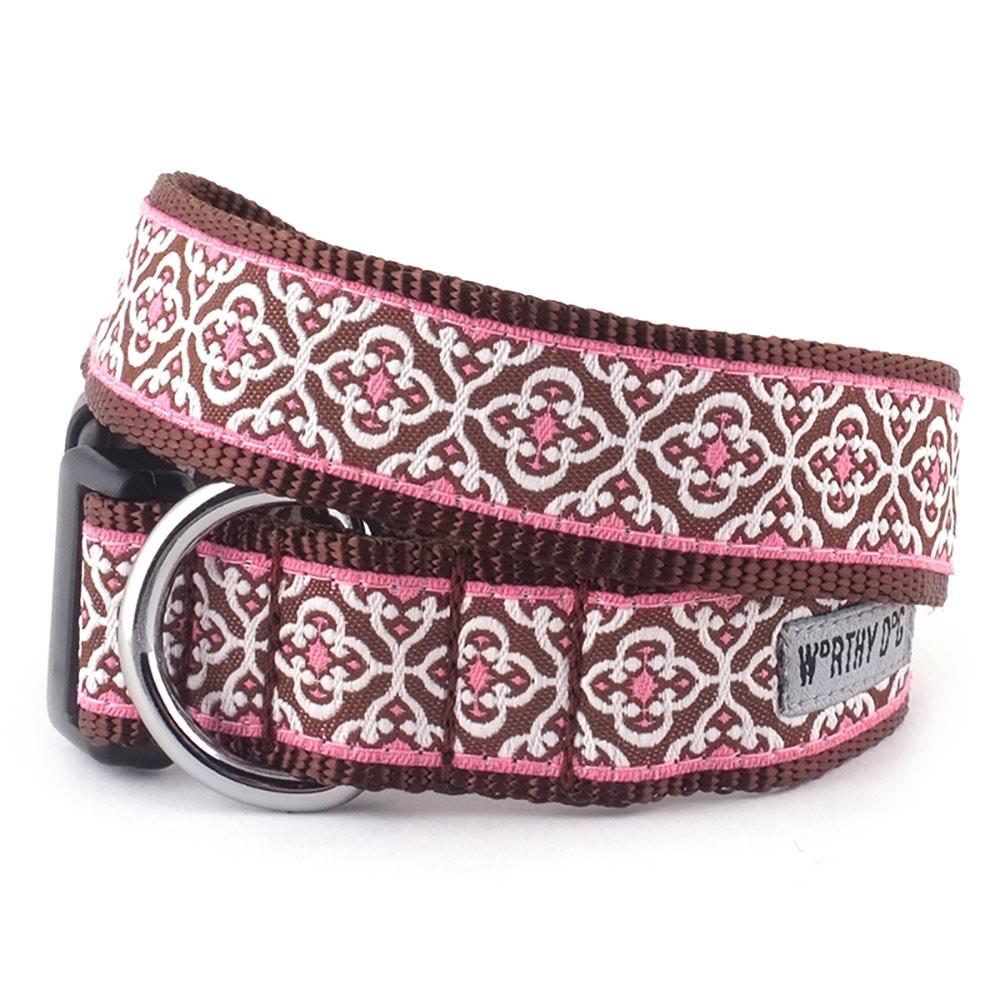 The Worthy Dog Collar, Knightsbridge Pink, X-Small