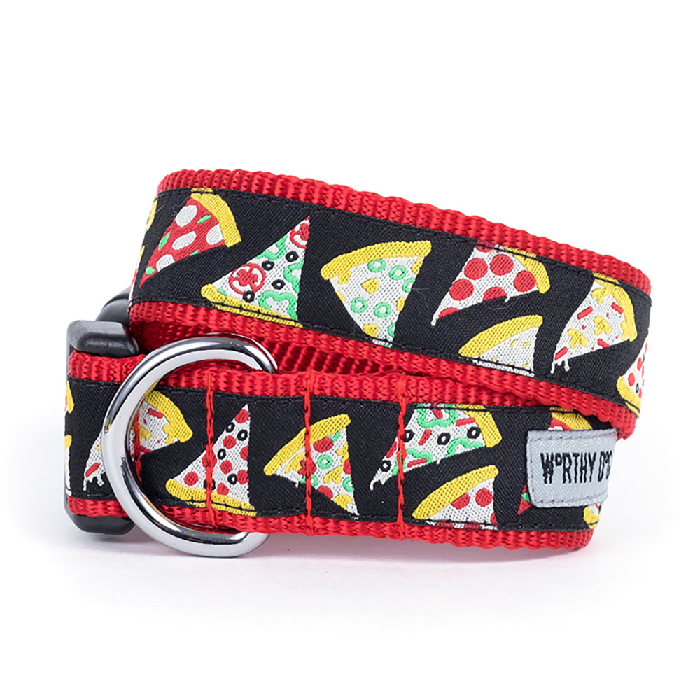 The Worthy Dog Collar, Pizza, X-Small