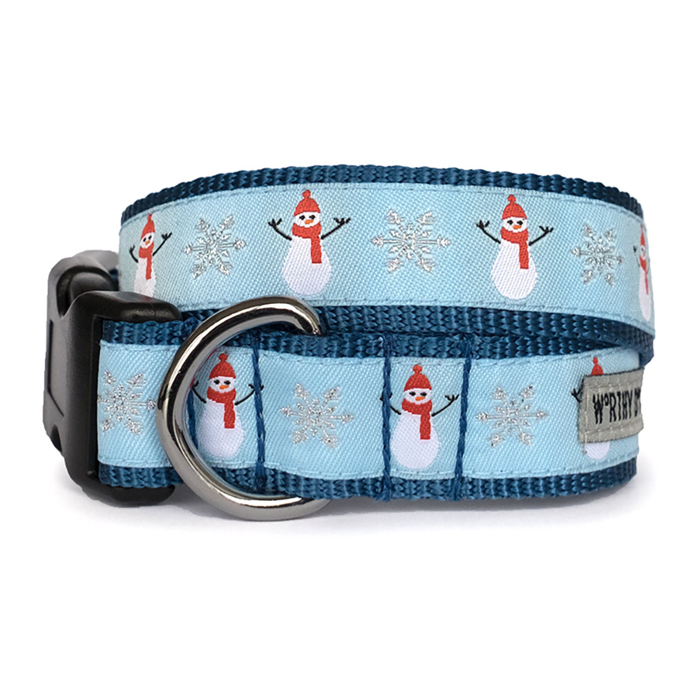 The Worthy Dog Collar, Snowmen Holiday , Small
