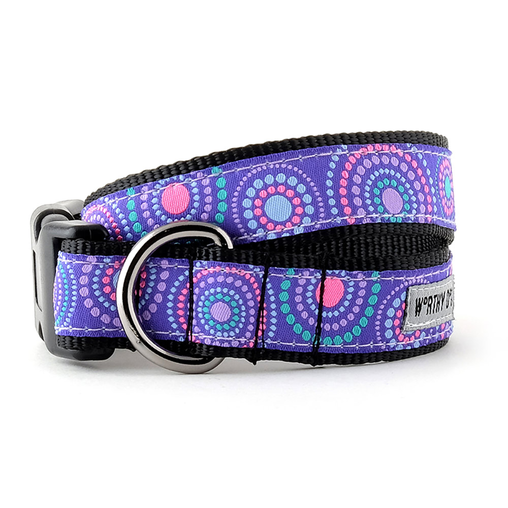 The Worthy Dog Collar, Sunburst Purple, X-Small