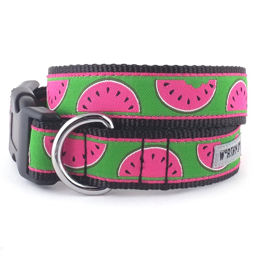 The Worthy Dog Collar, Watermelon, Large