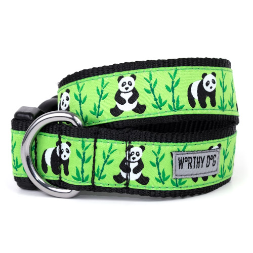 The Worthy Dog Collar, Pandas, X-Small