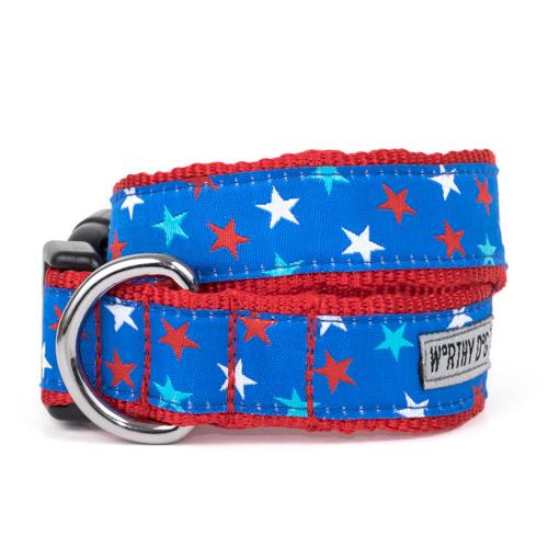 The Worthy Dog Collar, Patriotic Stars, Small