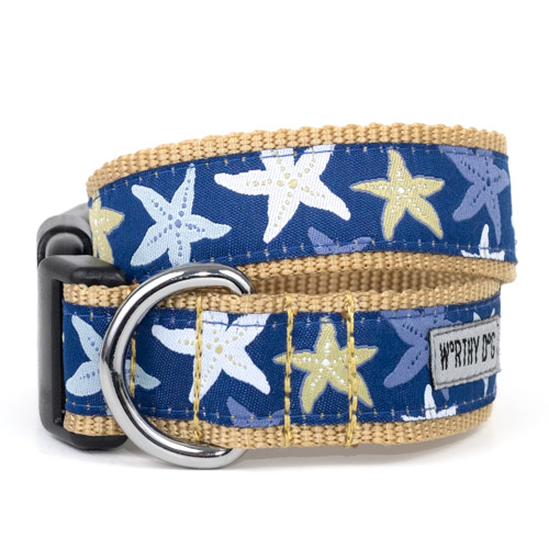 The Worthy Dog Collar, Starfish, Small