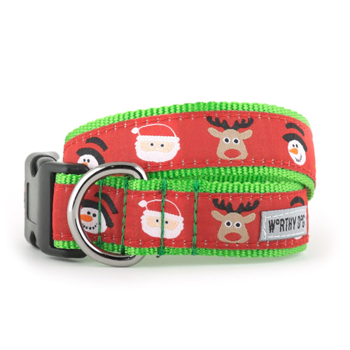 The Worthy Dog Collar, Merry Christmas, X-Small