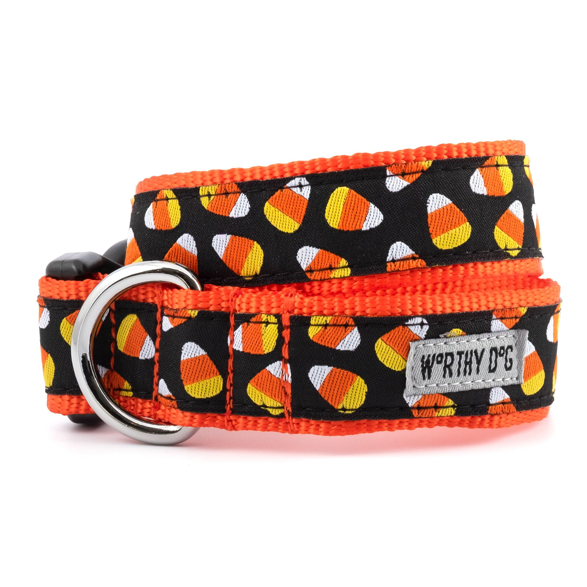 The Worthy Dog Collar, Candy Corn, X-Small