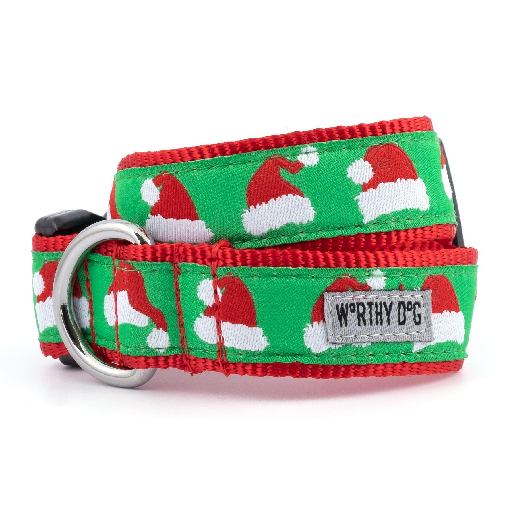 The Worthy Dog Collar, Santa Hats, X-Small