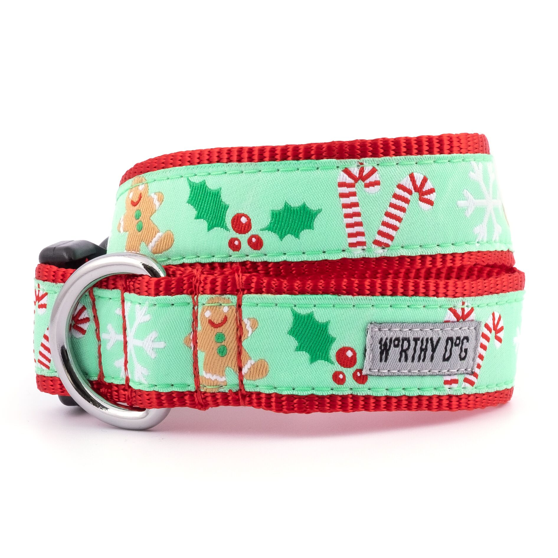 The Worthy Dog Collar, Gingerbread, Small