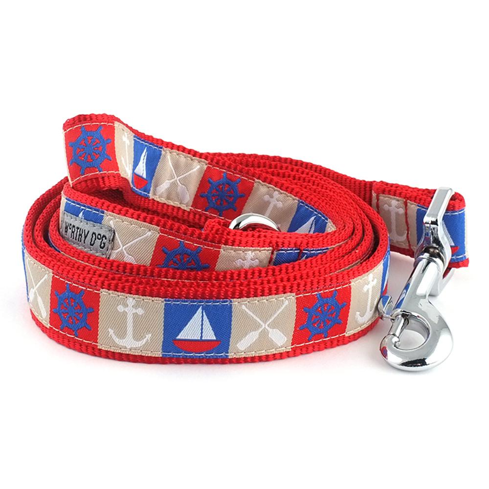 The Worthy Dog Leash, Ahoy, Small (5/8-in)