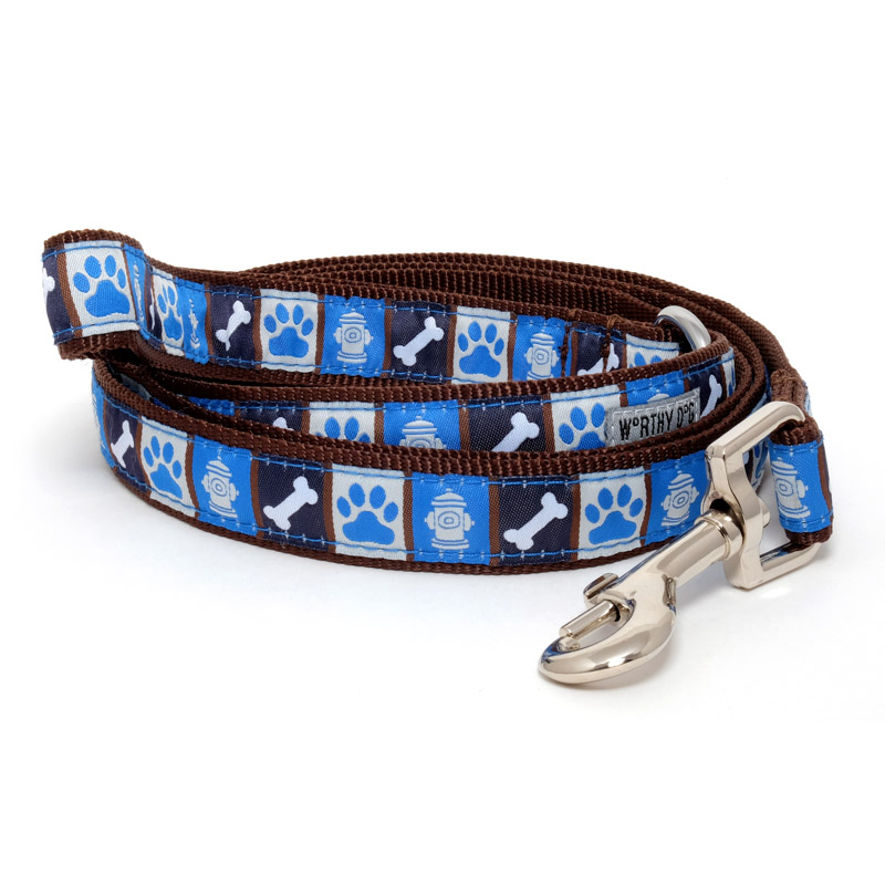 The Worthy Dog Leash, A Dog's Life, Small (5/8-in)