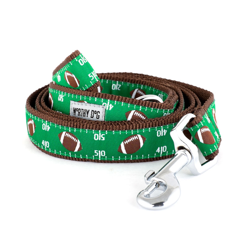 The Worthy Dog Leash, Football Field, Small (5/8-in)