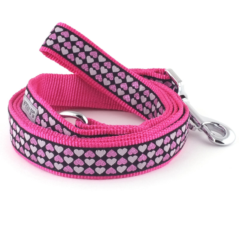 The Worthy Dog Leash, Hearts, Small (5/8-in)