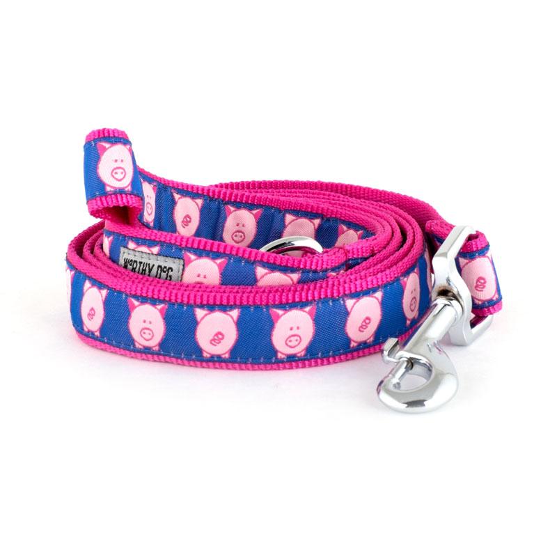 The Worthy Dog Leash, Wilbur Pig, Small (5/8-in)