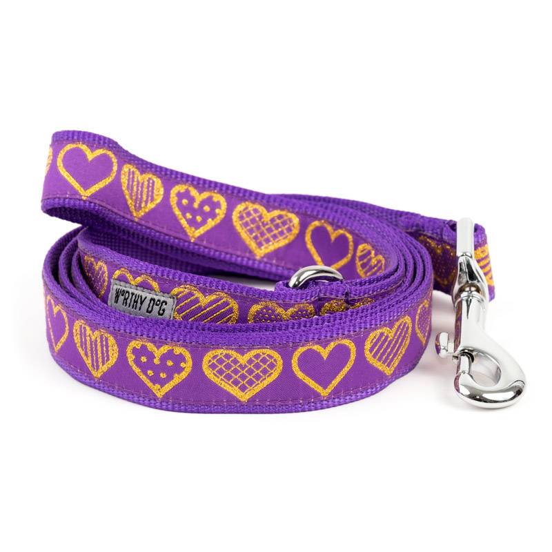 The Worthy Dog Leash, Love, Small (5/8-in)