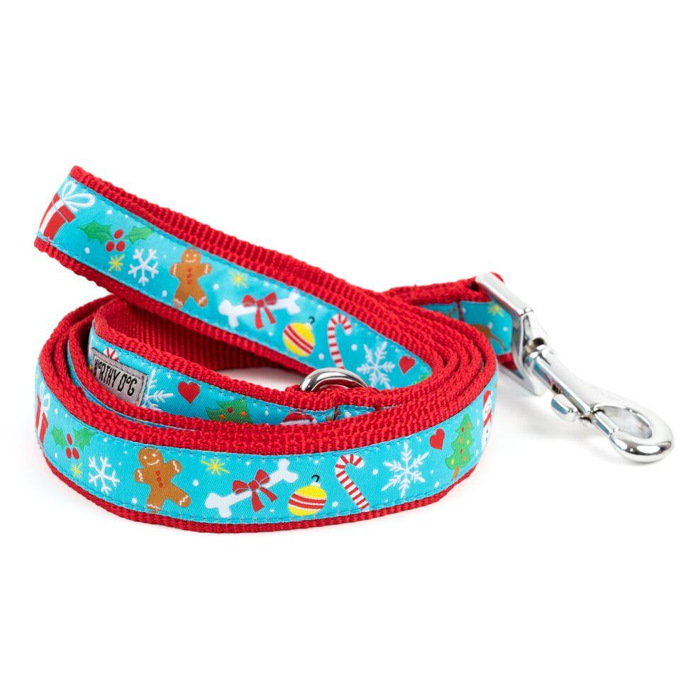 The Worthy Dog Leash, Winter Wonderland, Large (1-in)