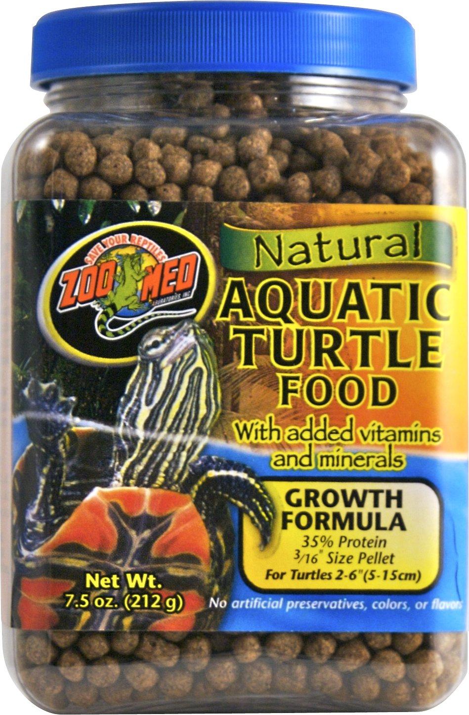 Zoo Med Natural Aquatic Turtle Food, 7.5-oz jar