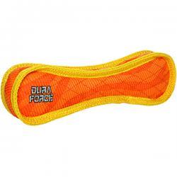 DuraForce Bone Tiger Dog Toy, Orange/Yellow