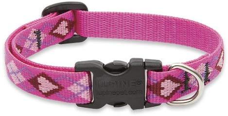 Lupine Original Designs Adjustable Dog Collar, Puppy Love, 1/2-in x 8-12-in