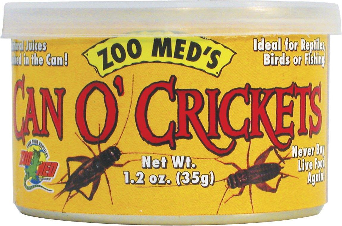 Zoo Med Can O' Crickets Reptile & Bird Food, 1.2-oz can