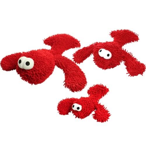 Tuffy's Mighty Microfiber Ball Mini Lobster Dog Toy