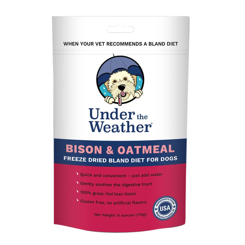 Under the Weather Bison & Oatmeal Bland Diet Freeze-Dried Dog Food Formula, 6-oz bag