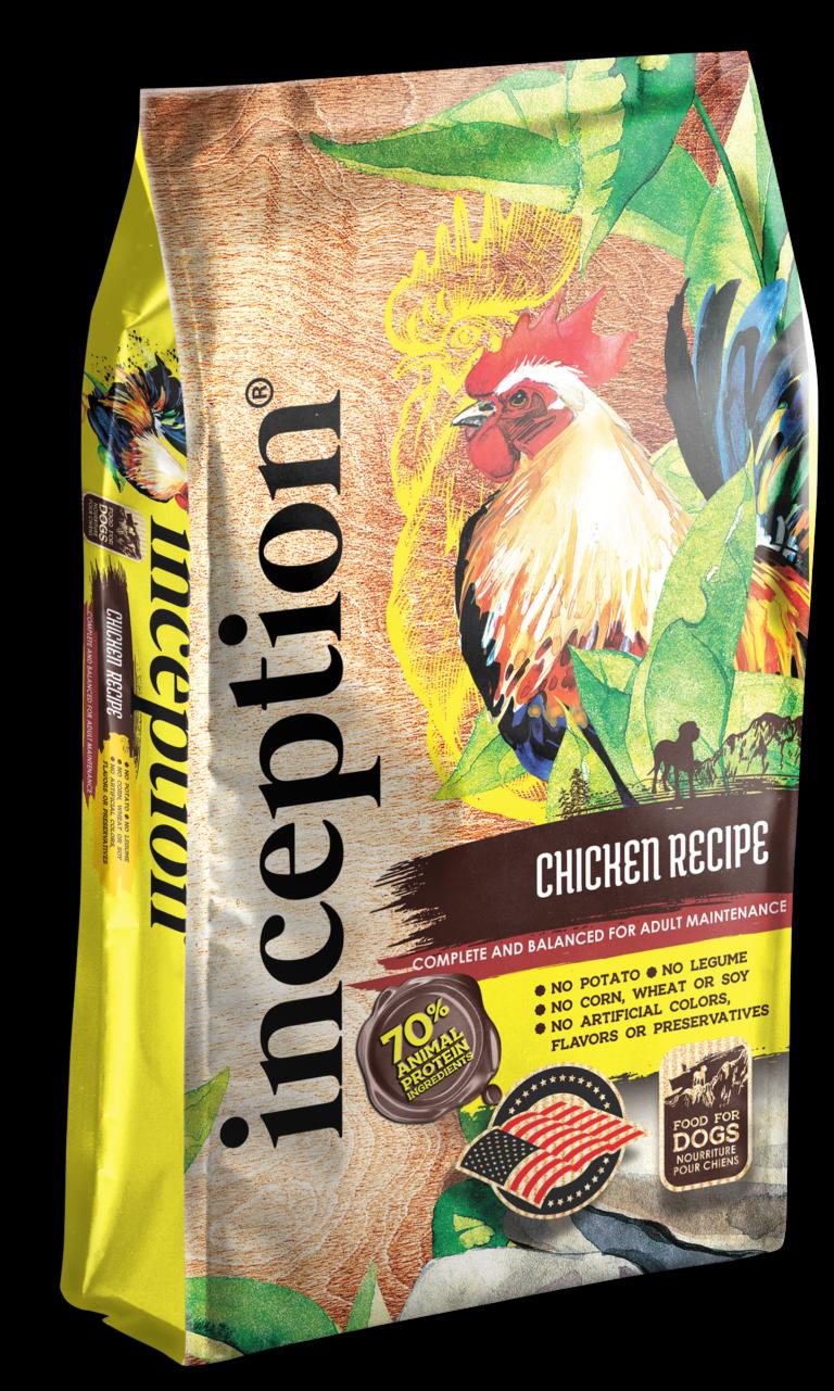 Inception Chicken Recipe Whole Grain Dry Dog Food, 4-lb bag