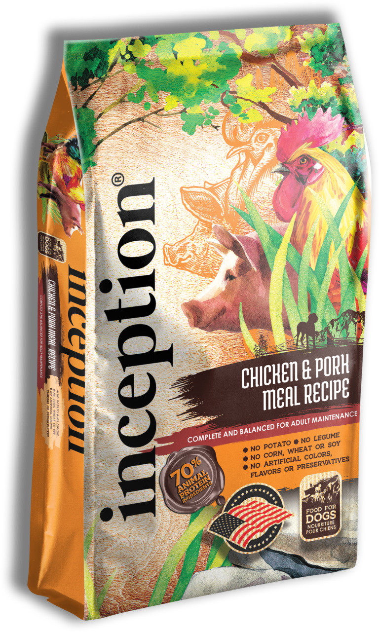 Inception Chicken & Pork Meal Recipe Whole Grain Dry Dog Food, 27-lb bag