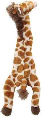 Ethical Pet Skinneeez Giraffe Stuffingless Dog Toy, 14-in