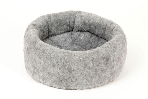 Carolina Pet Company Mysterious Kitty Kup Cat Bed, Charcoal